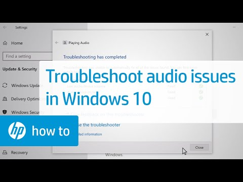 How to Troubleshoot Audio Problems in Windows 10 | HP Computers | HP