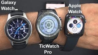 Video Ticwatch Pro Unboxing & Size Comparison To The Apple Watch Series 4 & The Samsung Galaxy Watch 2018 download MP3, 3GP, MP4, WEBM, AVI, FLV Oktober 2018
