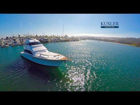 "Drone Aerial Footage Kusler Yachts 75' Titan ""C Bandit"" For Sale"