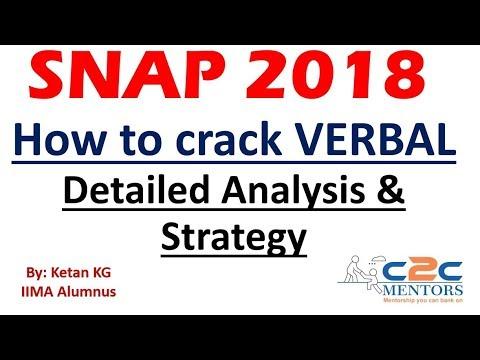 SNAP Verbal Analysis & Strategy