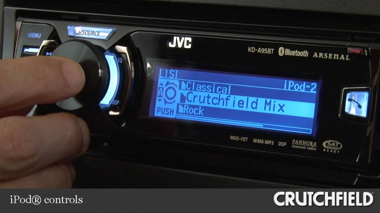 JVC Arsenal KD-A95BT Car CD Receiver Display and Controls Demo |  Crutchfield Video