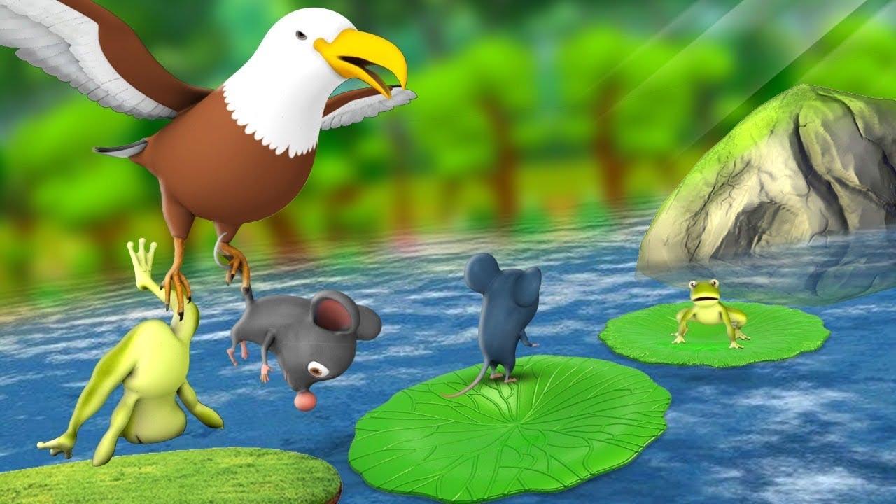 नटखट चूहा मेंढक और चील - Funny Rat Frog and Eagle 3D Animated Hindi Moral Stories | JOJO TV Hindi