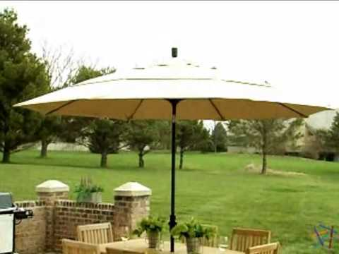 Superior California Umbrella 11 Ft Wind Resistant Patio Umbrella   Product Review  Video