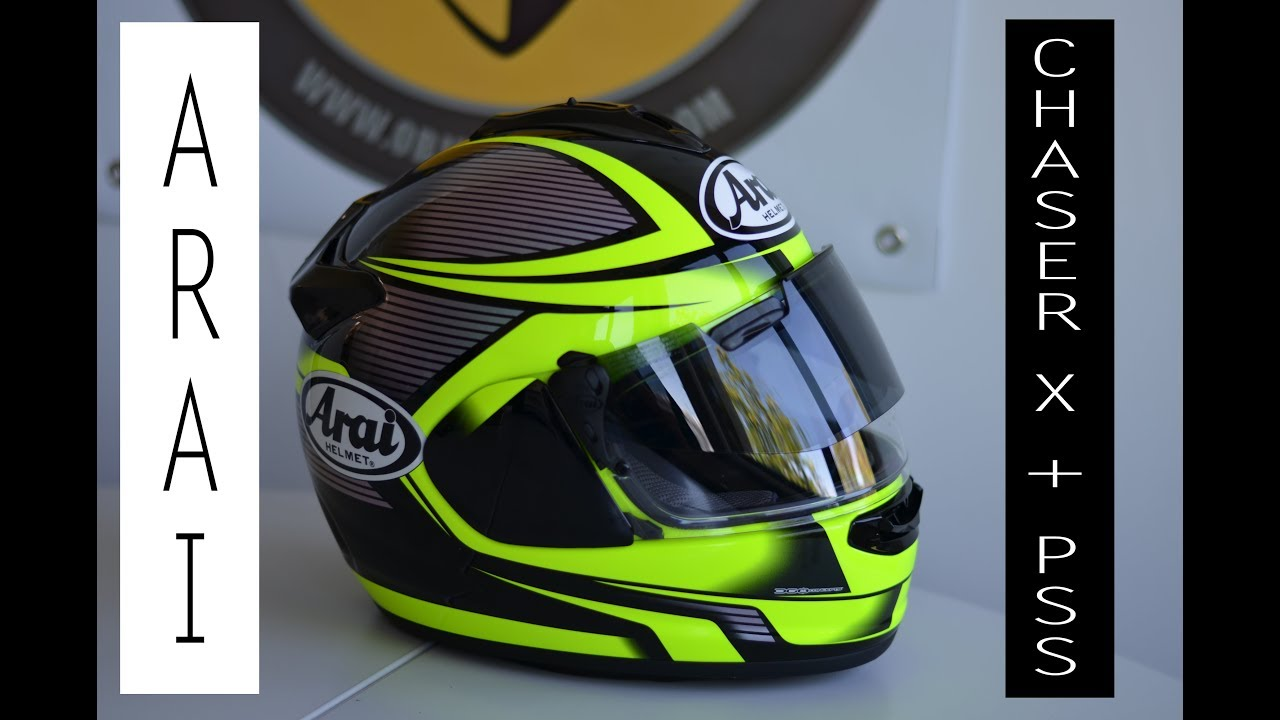 Arai Chaser X Et Pss Pro Shade System Youtube