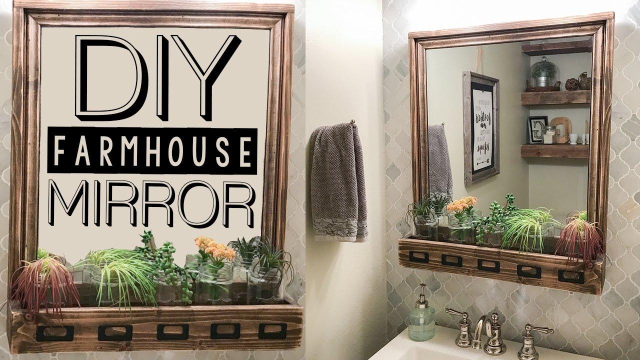 Diy Farmhouse Storage Mirror Shanty2chic Youtube