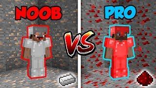 Minecraft NOOB vs. PRO: IRON or REDSTONE BATTLE in Minecraft!