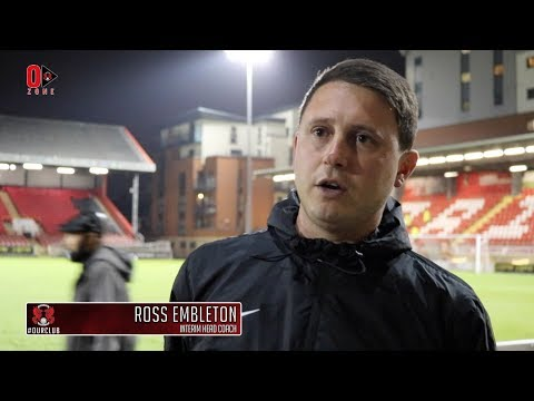 REACTION: Interim Head Coach Ross Embleton following the O's 2-2 draw with Chester
