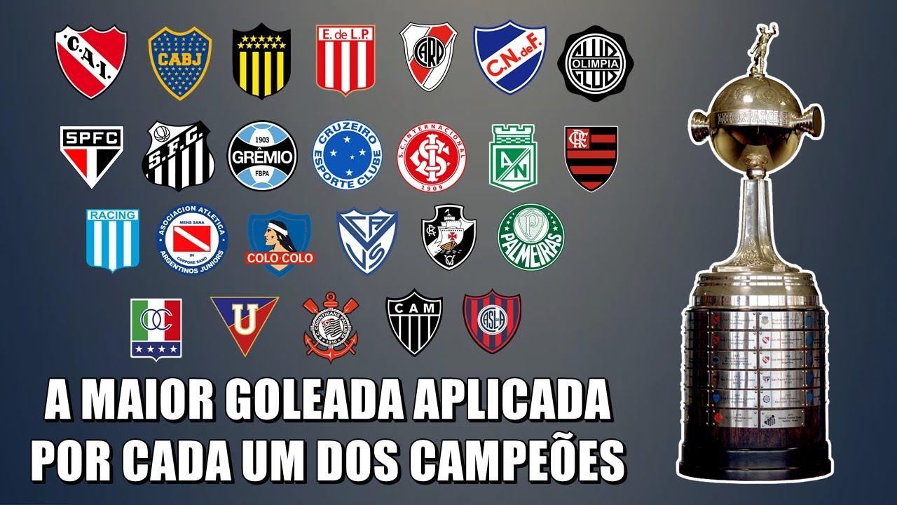 A maior GOLEADA APLICADA na Libertadores, por cada clube que já venceu a Competição