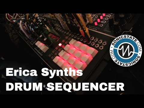 Superbooth 2017: Erica Synths Drum Sequencer - Lovely Buttons