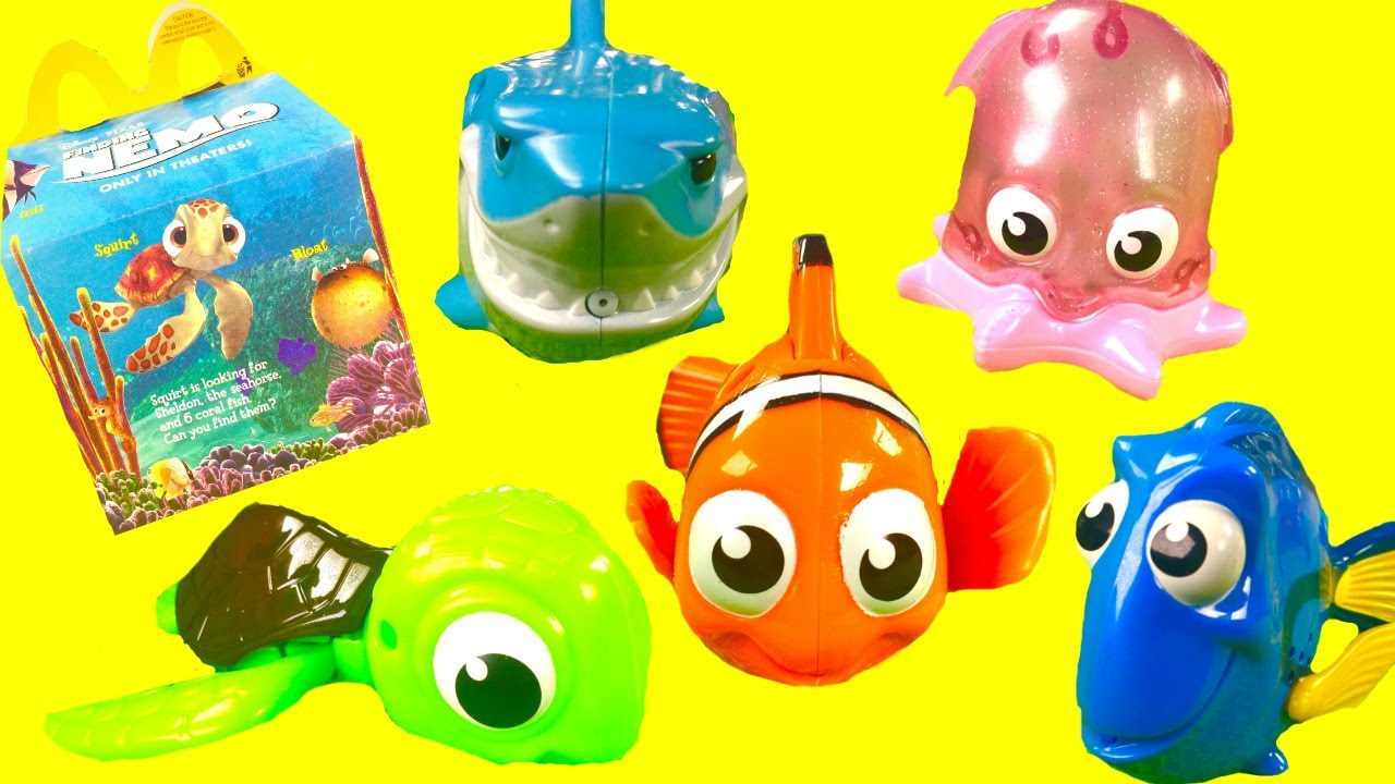 Finding Nemo Toys : Finding nemo mcdonald s happy meal toys dory marlin pearl