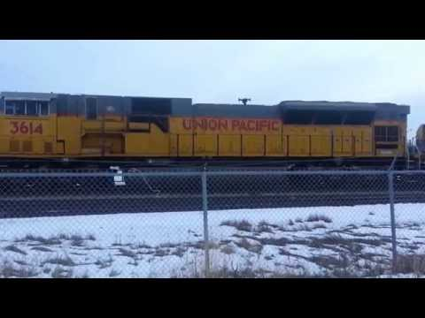 Canadian Pacific SD45 with Union Pacific SD90's
