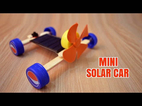 How to Make a Mini Solar Car - Homemade.