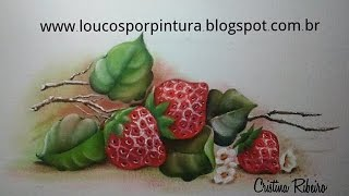Como pintar morango com Cristina Ribeiro