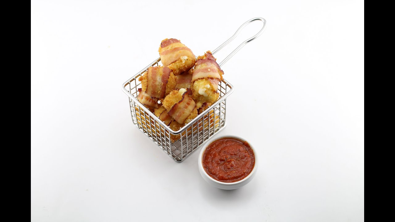 Deep Fried Bacon Wrapped Cheese Curds - YouTube