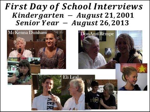 First Day of School - Kindergarten Year 2001 and Senior Year 2013