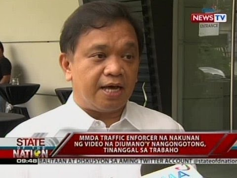 SONA: MMDA traffic enforcer na nakunan ng video na diumano'y nangongotong, tinanggal sa trabaho