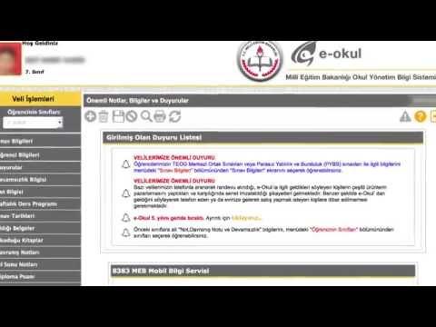 e-Devlet Kapısı - MEB Öğrenci Bilgi Sistemi