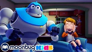 Halloween Zombies  Subtitles | Arpo the Robot & Baby Daniel | Cartoons for Kids | Moonbug Literacy