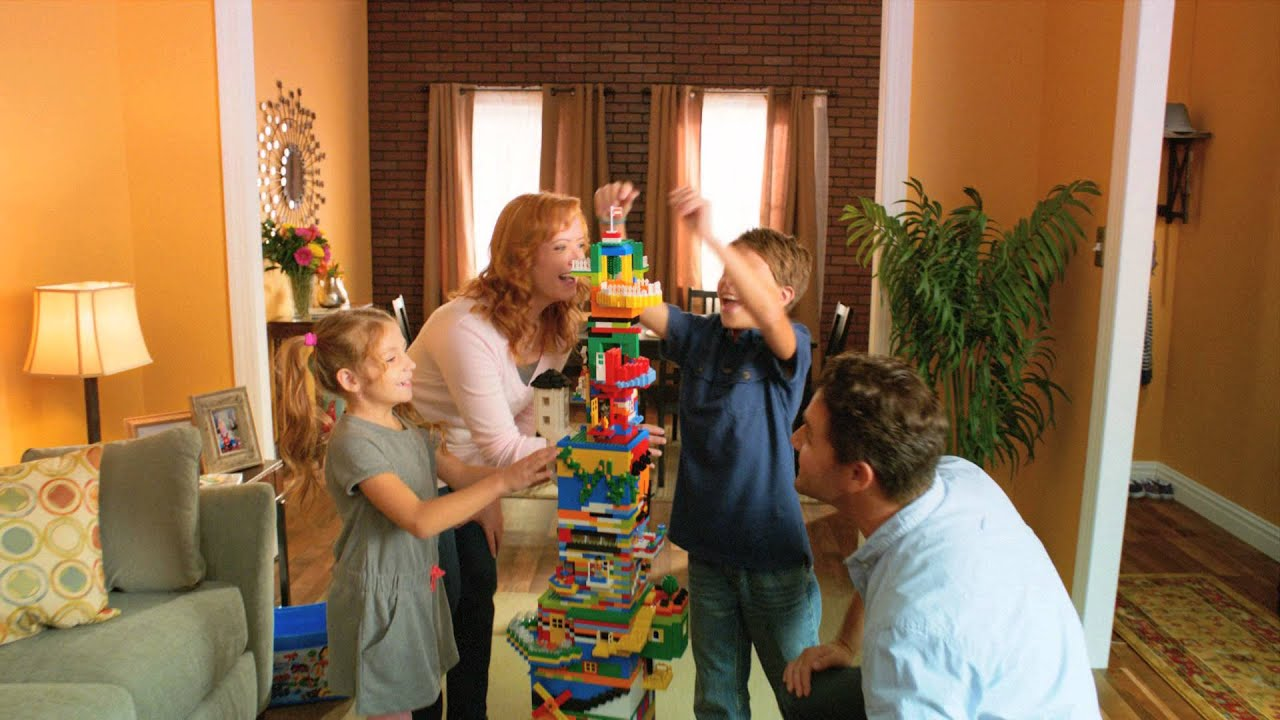 Lego build together family time youtube for What is needed to build a house