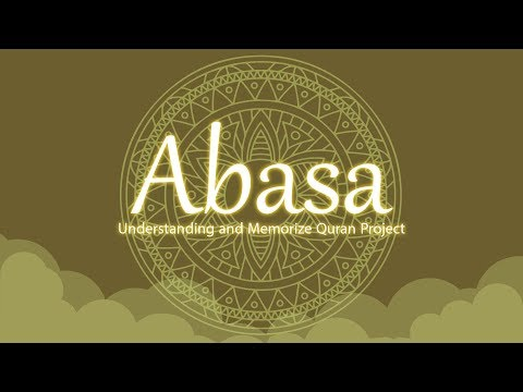Surah Abasa | English | Understand & Memorize Quran Project