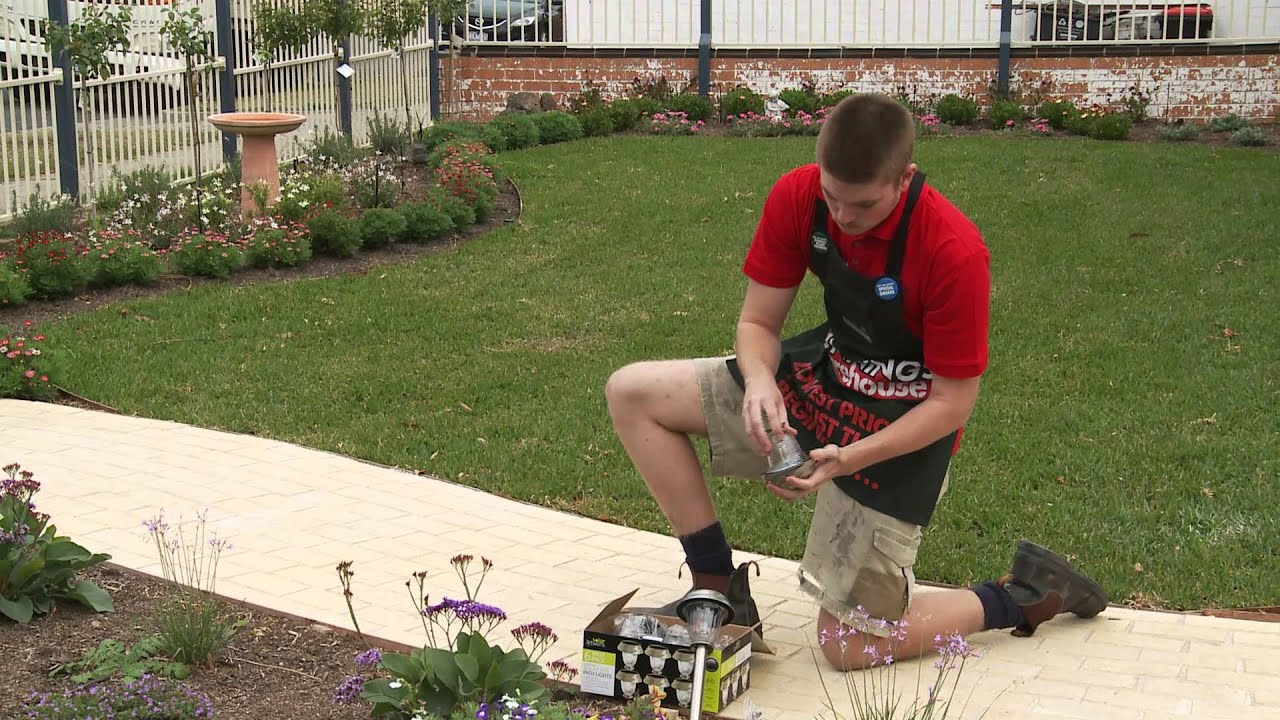 How To Install Solar Garden Lighting  DIY At Bunnings  YouTube