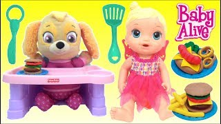 Baby Alive Doll and Grill Kitchen Food Cooking Imaginative Play