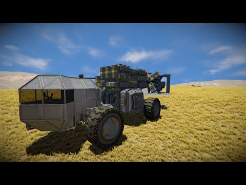 Space Engineers - Building a simple mobile drilling rig