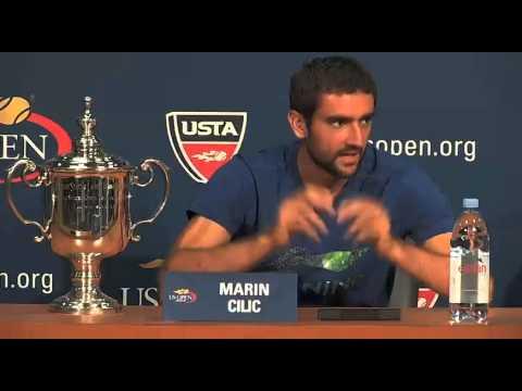 US Open tennis men's singles winner MARIN CILIC press conference