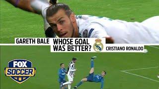 Video Which goal was better: Cristiano Ronaldo or Gareth Bale? | FOX SOCCER download MP3, 3GP, MP4, WEBM, AVI, FLV Agustus 2018