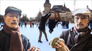 Old Man Ice Skating Prank PART 2 / Backflip on ice / Acroice