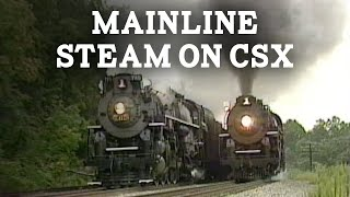 Steam on CSX with Nickel Plate Road no. 765 and Pere Marquette no. 1225