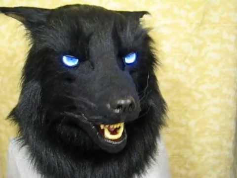 Black Panther Animal Wallpaper Black Wolf Fursuit Mask Blue Leds And Moving Jaw Youtube