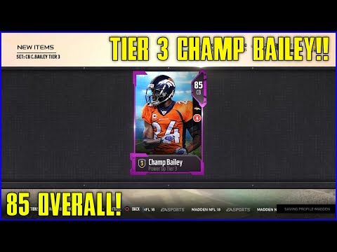 UPGRADING POWER UP CHAMP BAILEY! [POWER UP TIER 3 - 85 OVERALL!] - One of the Best CORNERS IN MUT!