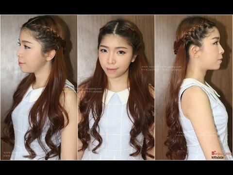 Hair Tutorial : ทำผม ถักเปียแบบสาวหวาน ด้านหลังสวยเก๋