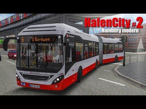 OMSI 2: Hamburg HafenCity #2 - Am Borgweg mit dem Volvo 7900 Hybrid-Bus! | BUS-SIMULATOR
