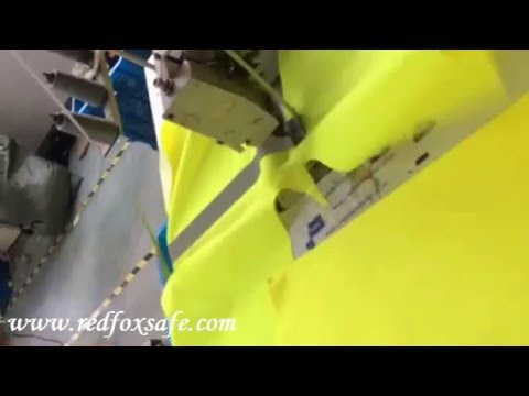Reflective safety clothing sewing process