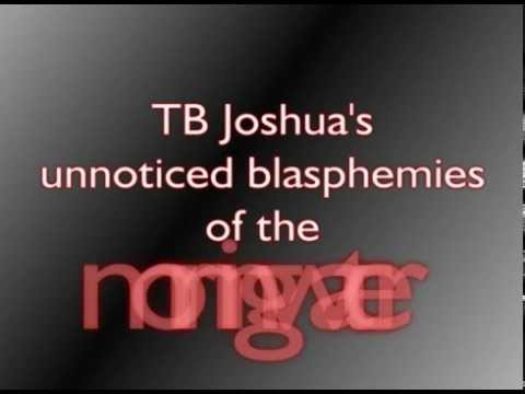 TB Joshua's morning water blasphemies