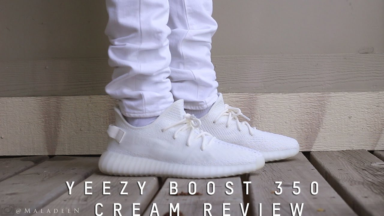 b27b6f665dd Yeezy Boost 350 V2 Cream White Unboxing and On-Foot Review!!!! - YouTube