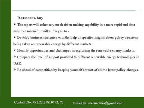 UAE Renewable Energy Policy Handbook 2016