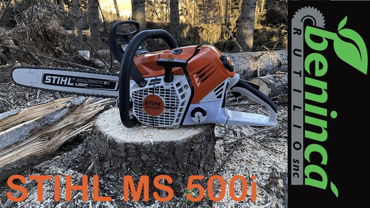 stihl ms 500i - youtube