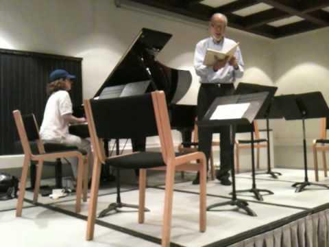 Nic Moller sings Schumann with anne Marie mcDermott
