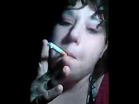 smoking Chubby girl