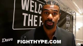 DAVID HAYE THANKS TONY BELLEW FOR NOT BEING A BIG PUNCHER; RATES POWER AS LESS THAN HE THOUGHT