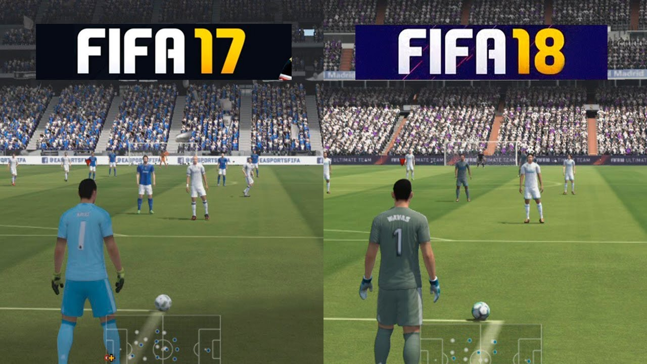 ps3 fifa 17 vs fifa 18 comparison comparativa doovi. Black Bedroom Furniture Sets. Home Design Ideas