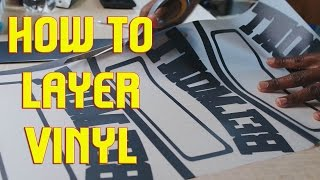 Printing T-Shirts with Vinyl Transfers: 2 Color Layered Print