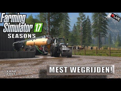 """{NL} """"MEST WEGRIJDEN!"""" FarmingSimulator 17 Seasons Pine Cove {G29}"""