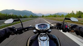Sunset ride on Yamaha XVS1300CU / Stryker - Italian Pre Alps - road SS 36 - イタリアで日本のバイク