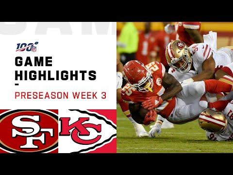49ers vs. Chiefs Preseason Week 3 Highlights | NFL 2019