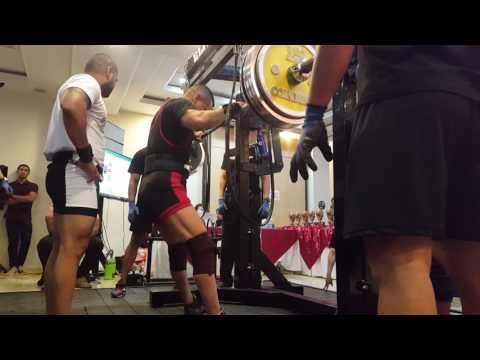 Squat:260 kilos, Saul Power III, Barranquilla, Colombia