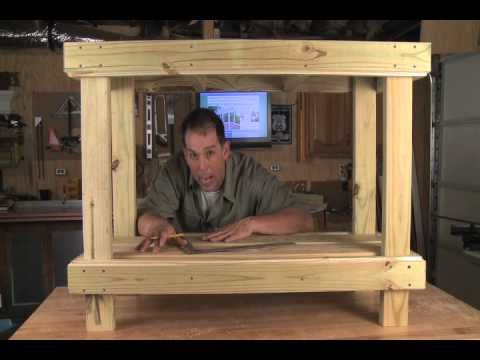 Southern Pine Potting Table Project - YouTube